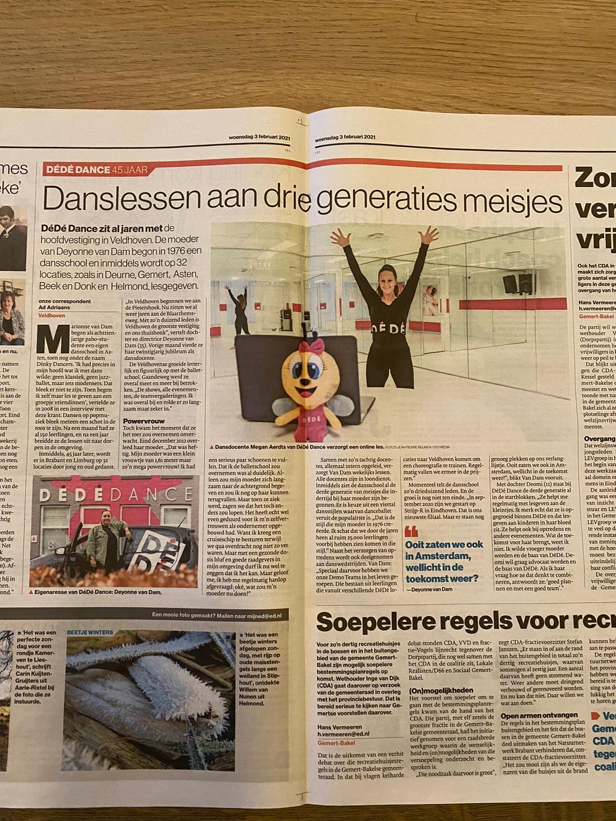 DéDé Dance in het nieuws!