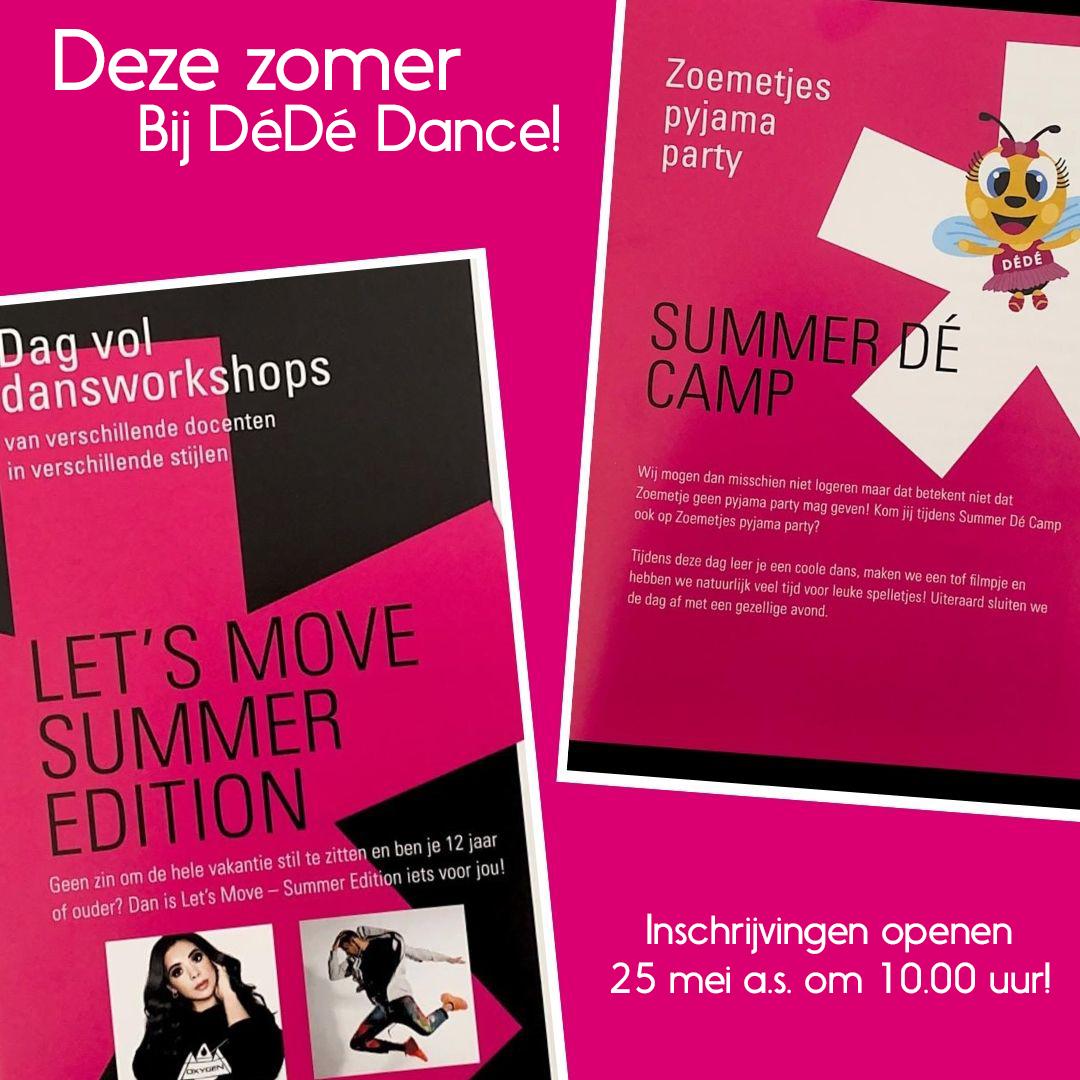 Inschrijvingen Summer Dé Camp & Let's Move